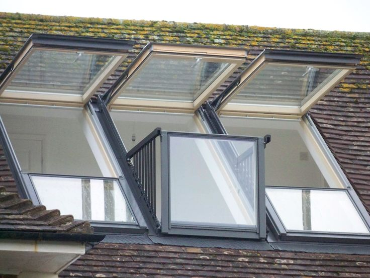A real VELUX CABRIO balcony installation - it looks just as good as the catalogue! Imagine the feeling of space and all the fresh air filling your musty loft! Via @Attic Designs Loft Conversions