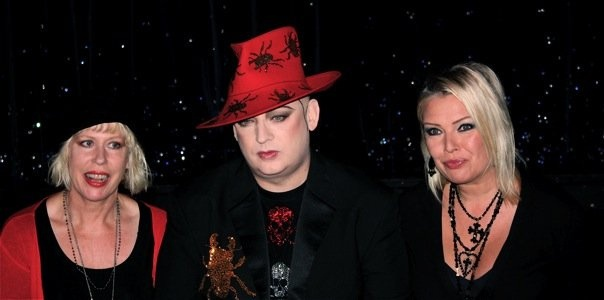 With Hazel O'Connor and Boy George, 2008.