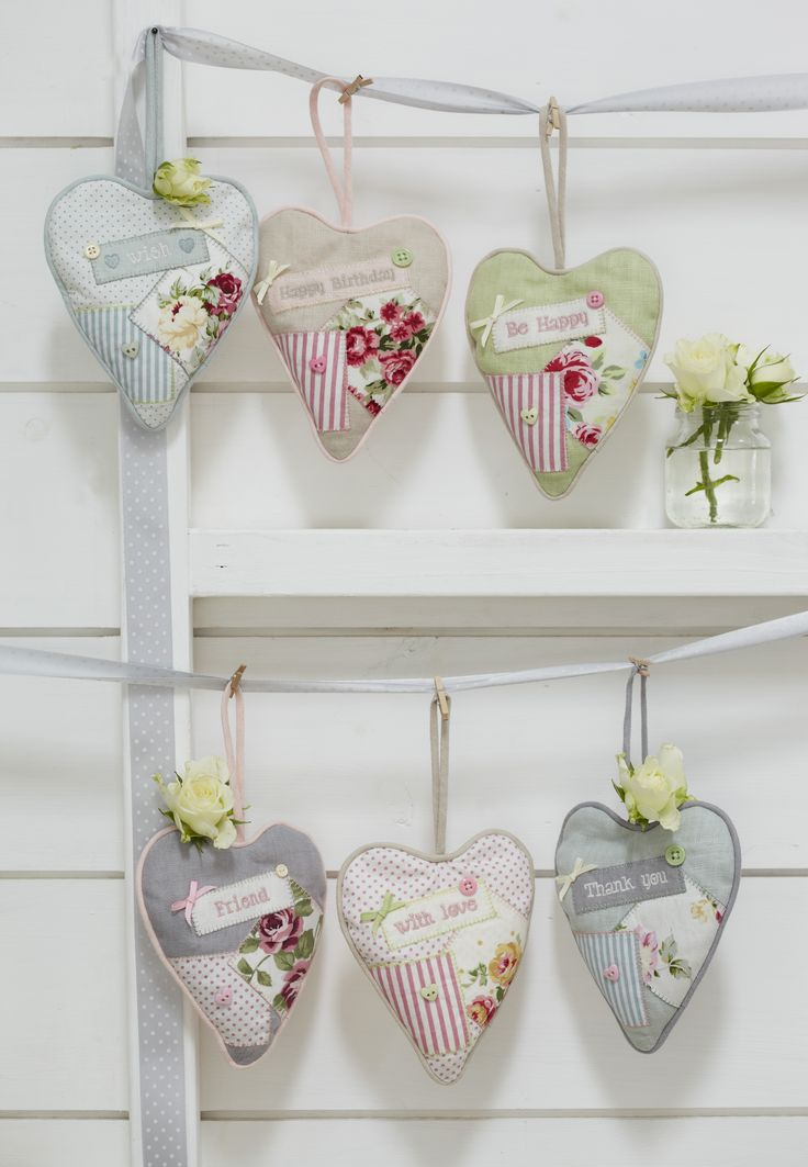 Lavender hearts - would make lovely gifts