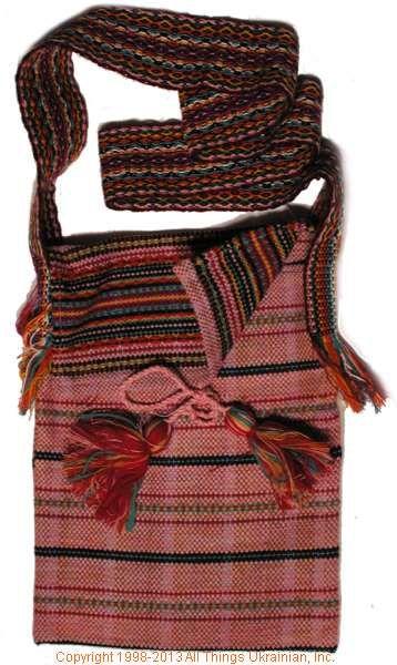 Handmade and hand woven Ukrainian over the shoulder handbag # HB13-003 Sold on  https://www.allthingsukrainian.com/Cloth/handbags/Thumb/Page1.php