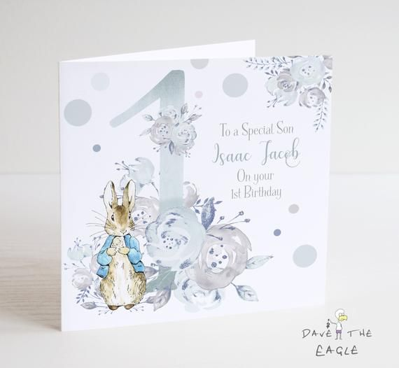 Handmade Personalised Jemima Puddle-Duck Peter Rabbit Birthday Card Any Age