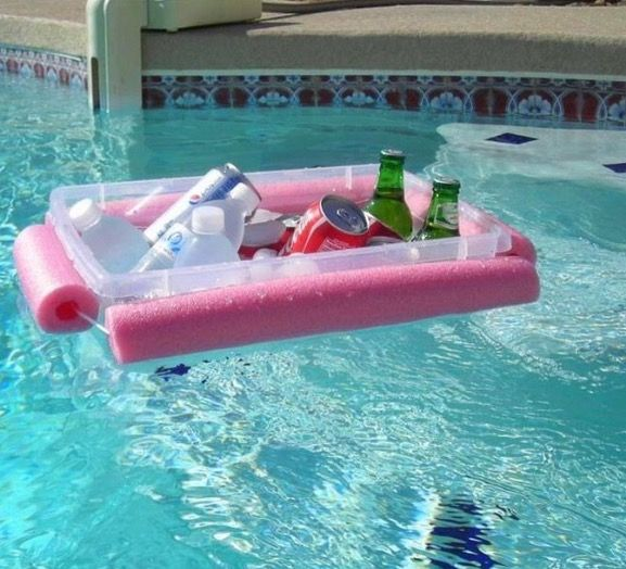 Use A Pool Noodle And Plastic Storage Box To Make A Floating Bar For A  Swimming Pool And Enjoy Lazy Summer Days By The Poolside. Ideas