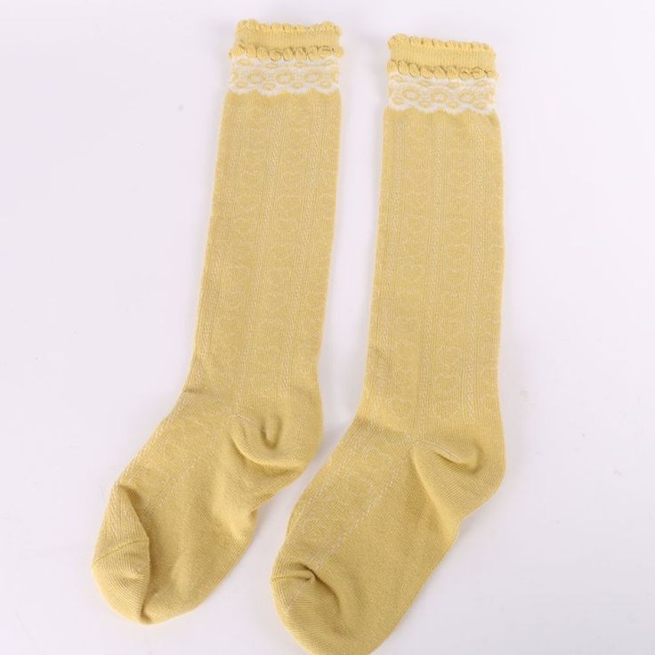 2-6Y Children Kids Girls Lace Stockings Leg Warmer Cotton High Knee Princess School Boot Accessories