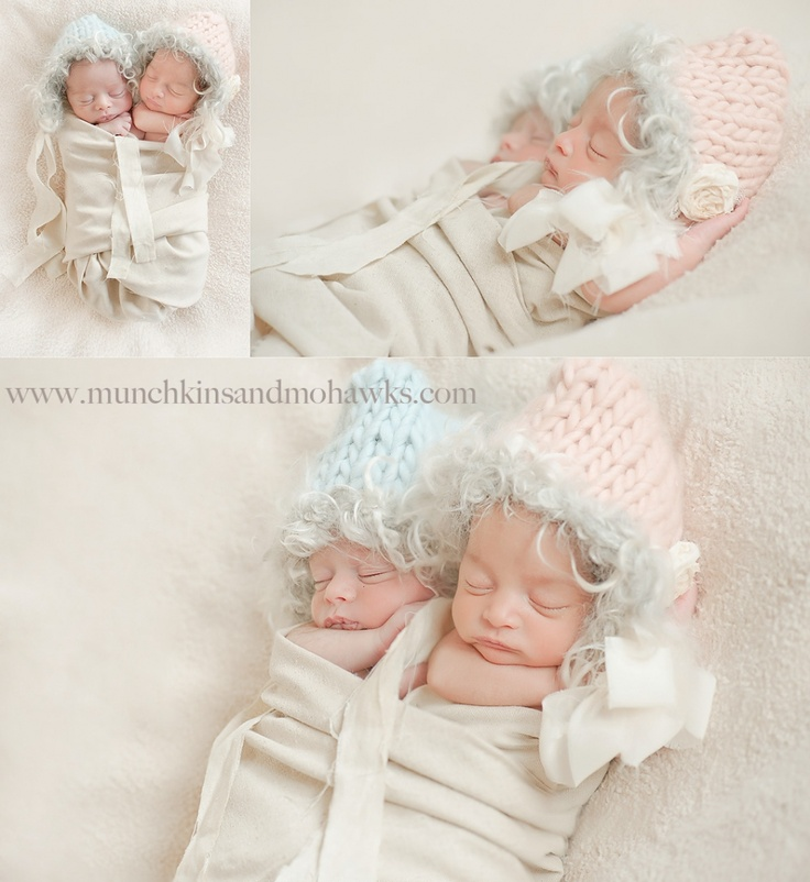 http://munchkinsandmohawksphotography.com - newborn twins - beyond adorable!