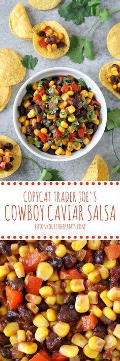 copycat Trader Joe's cowboy caviar salsa