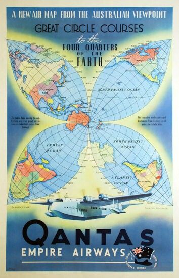 Qantas Empire Airways Flying Boat Poster.. They advanced navigation beyond the…