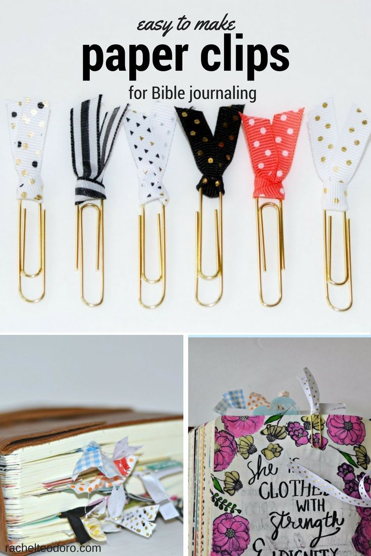 easy to make fabric paper clips for Bible journaling