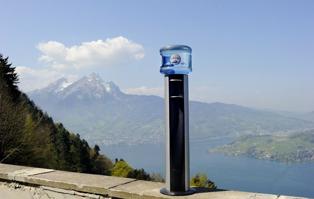 """HOME 11L Cooler in front of the """"Gruetli"""""""