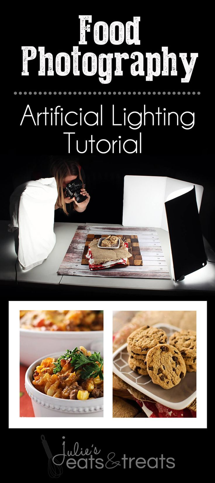 Food Photography Lighting with Ego Artificial Lights! ~ http://www.julieseatsandtreats.com