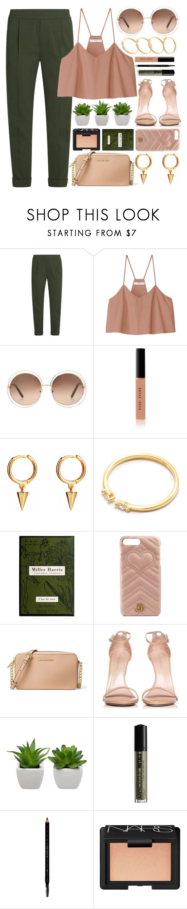 """Adana"" by monmondefou ❤ liked on Polyvore featuring Vince, TIBI, Chloé, Bobbi Brown Cosmetics, Miller Harris, Gucci, MICHAEL Michael Kors, Stuart Weitzman, NYX and NARS Cosmetics"