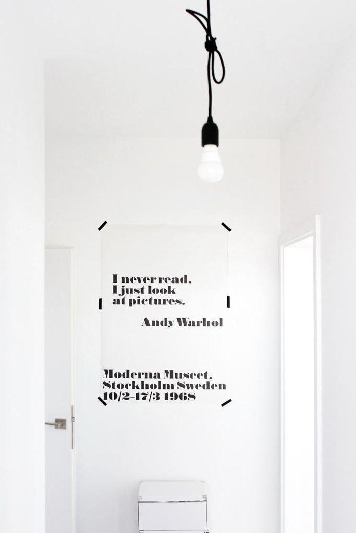Andy Warhol poster_I never read, Stylizimo.com, FriChic