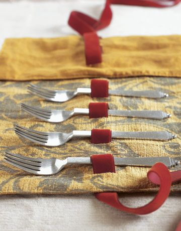 Flatware Holder. Make this in washable fabrics