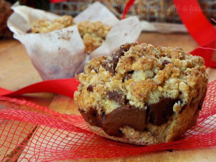 Muffin sbriciolati alla nutella ricetta dolce
