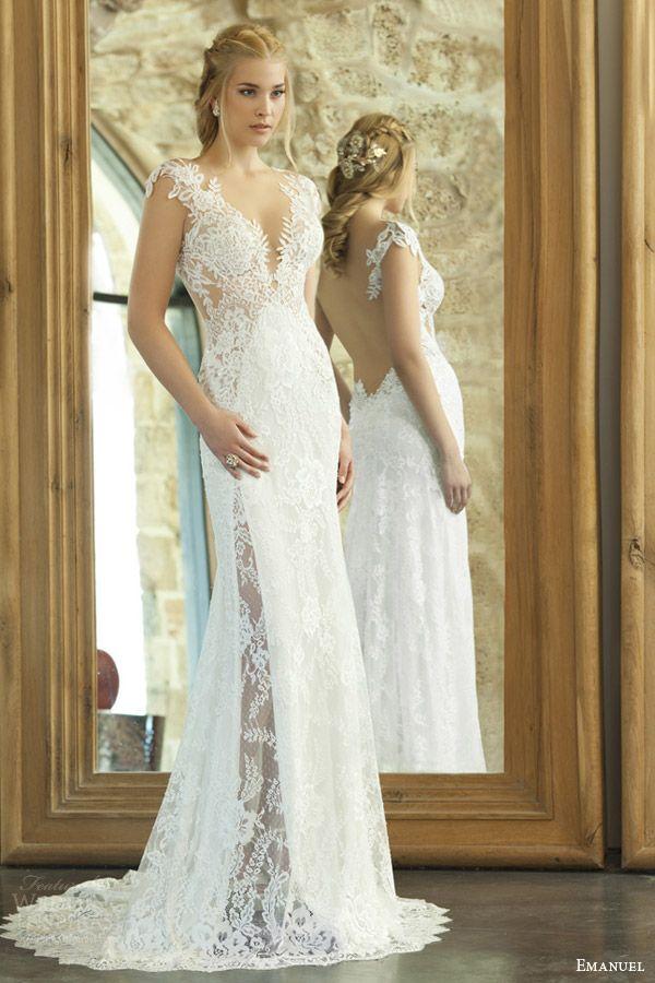 Emanuel 2015 wedding dresses sheath wedding dresses for Sexy sheath wedding dress