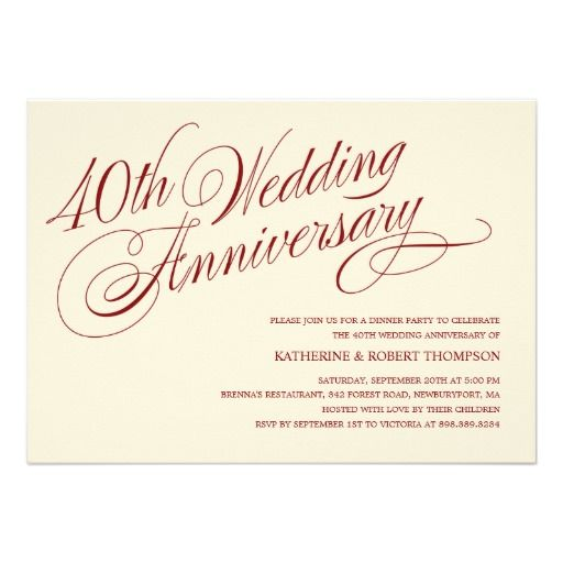 8 best party invitations images on pinterest invites masquerade 40th wedding anniversary invitations stopboris Image collections