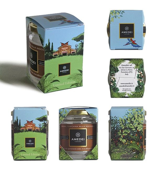 Amedei Tuscany - illustrations & packaging
