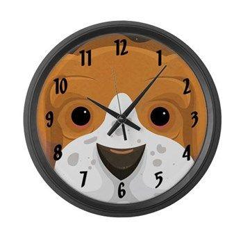 Basset Hound Large Wall Clock from cafepress store: AG Painted Brush T-Shirts. #clock #bassethound #dog