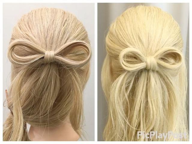 Bow half up half down hairstyle   リボンの作り方・動画篇 1,ハーフアップの要領で土台を作ります 2,土台のすぐ下の髪を写真のような輪っかにして結びます(反対側も同じ) 3,土台のゴムにアレンジスティックをさして少しだけ髪をとって通します 4,写真のような輪っかを作ります 5,4番の輪っかに2番の輪っかを通して写真のようにします Fin,真ん中を締めて整えたら完成です。 リボンを使ったアレンジpostします★ 参考になれば嬉しいです^ ^ #ヘア#hair#ヘアスタイル#hairstyle#サロンモデル#サロモ#撮影#編み込み#三つ編み#フィッシュボーン#ロープ編み#まとめ髪 #アレンジ#結婚式#ブライダル#ヘアアレンジ#アレンジ動画#アレンジ解説#香川県#高松市#丸亀市#宇多津#美容室#美容院#美容師#リボン#リボンアレンジ