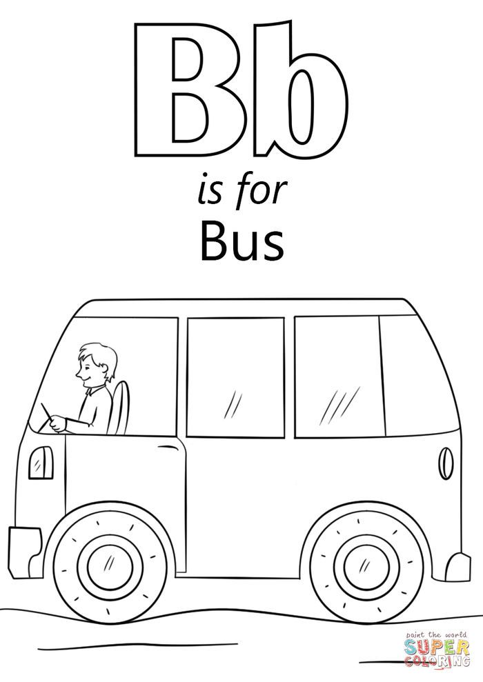 Bus Coloring Pages Collection Abc Coloring Pages Letter B