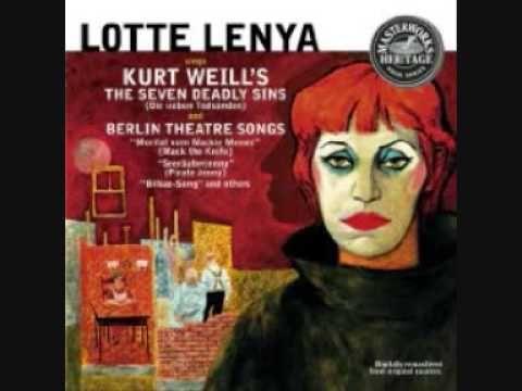 Lotte Lenya - The Seven Deadly Sins (Kurt Weill). 1956/57. Alabama Song.