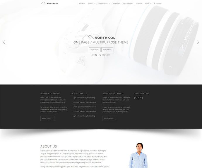 Web Page Template North Col