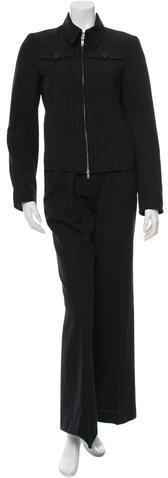 Dries Van Noten Wool Pinstripe Pantsuit