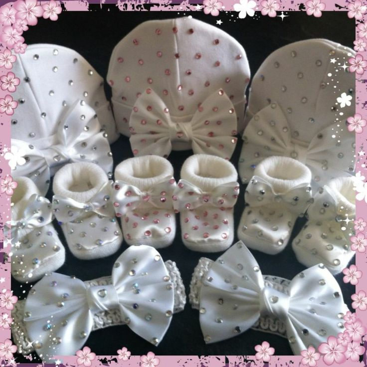 Baby bling pram Booties with bow Party/Christening/Wedding crystal