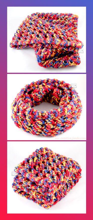 Яркий снуд, Авторская работа / Bright circle scarf, The work of authorship