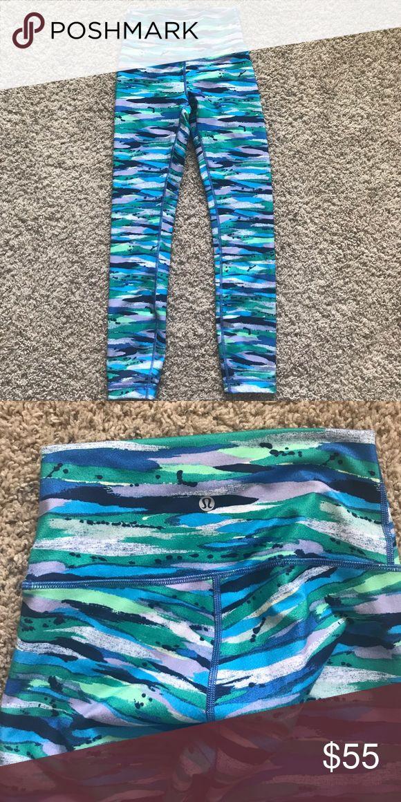 lululemon kids leggings  worn once Super cute leggings for girls. Daughter wore once lululemon athletica Bottoms Leggings
