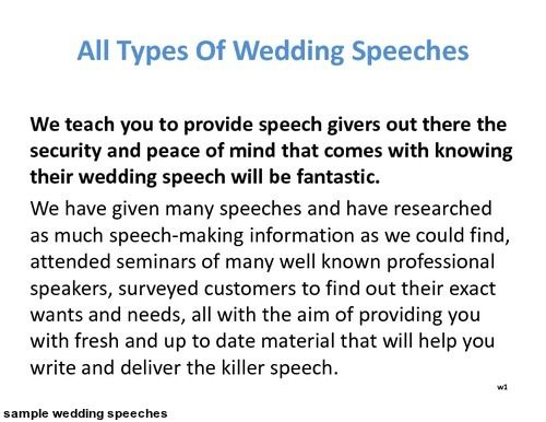 Best  Sample Wedding Speech Ideas On   Sample Wedding