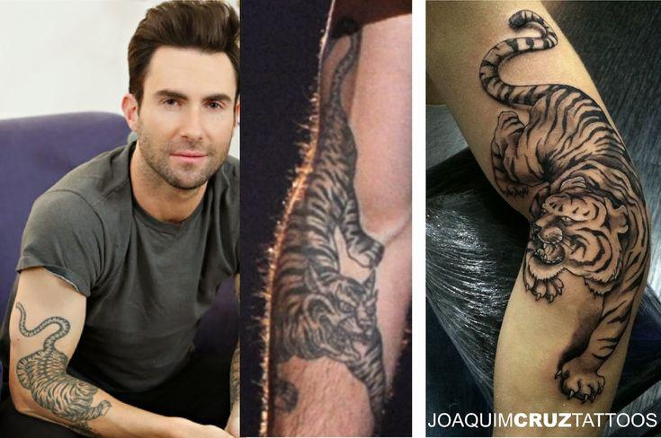 22 best leg tattoo images on pinterest tattoo ideas for Adam levine tiger tattoo