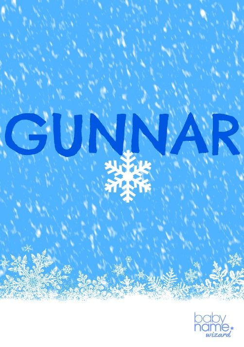 """Gunnar: Meaning, origin, and popularity of the name. There's no beating around the bush with a name like Gunnar—it's a deadly serious, muscled name meaning """"warrior"""" that strikes us as so tough we can't help but grin thinking of a toddler wearing it. Gunnar has deep roots in Old Norse, borne by a character in Norse legend, as well as a famous Viking. The military-inspired name Gunner is gaining momentum every year, pulling this storied name from its frosty Nordic.."""