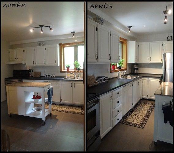 st luc cuisine armoire peinte nouvelle c ramique au sol nouveau dosseret et dessus de. Black Bedroom Furniture Sets. Home Design Ideas