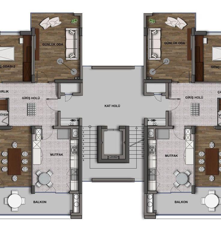 Lotus Beytepe STYLE Kat Planları, Beytepe (Ankara)   Konut ve Ofis Projesi,Özçelik-Pelit