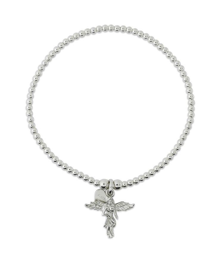 Deiicate & dainty this striking 925 sterling silver Santeenie My Guardian Angel bracelet is the perfect keep sake