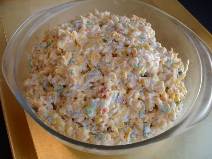 mexican corn dip with frito scoops | This is how much the recipe makes-enough to nearly fill a 2 quart dish ...