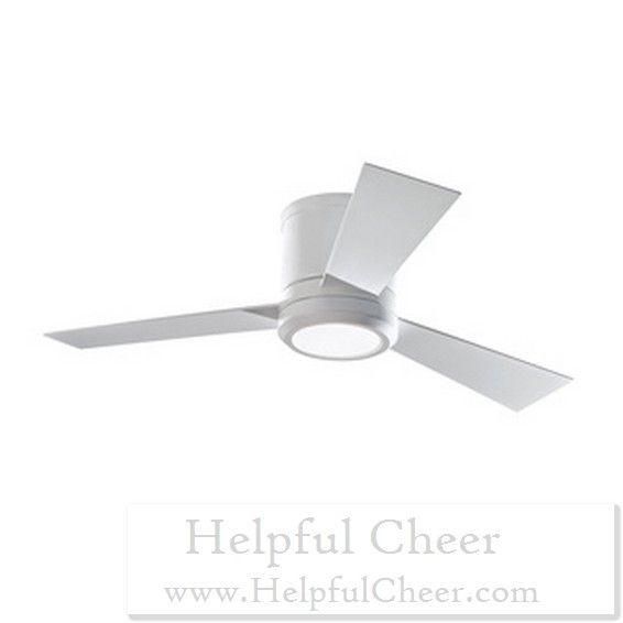 Monte Carlo Clarity II Rubberized White 42 Inch LED Ceiling Fan   At   0153 Good Ideas