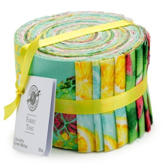 Get The Fruit Fabric Strips By Loops Threads At Michaels Fabric Strips Are Great For Sewing And Crafting Diy Projec In 2020 Braided Rug Diy Braided Rag Rugs Diy Rug