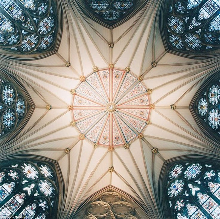 Remarkable symmetry: The vaulted ceiling of the Chapter House at York Minster, seat of the Archbishop of York