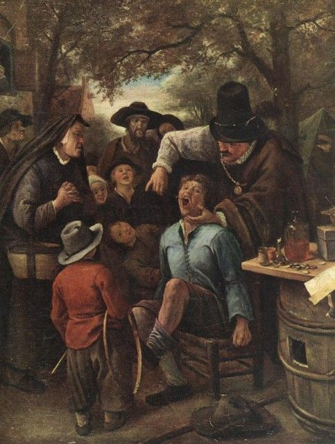 "Jan Steen  (Dutch, ca. 1625 - 1679)  ""The Quack doctor"""