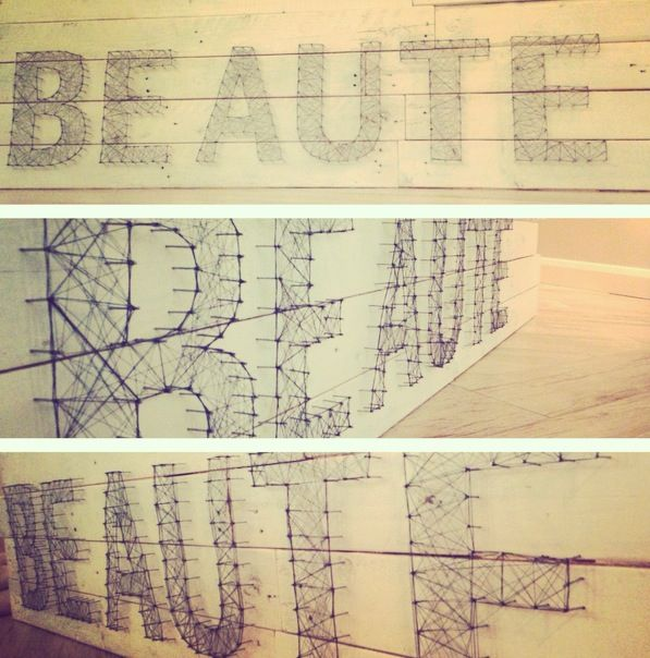 BEAUTE BEAUTE BEAUTE   DIY string Beauty