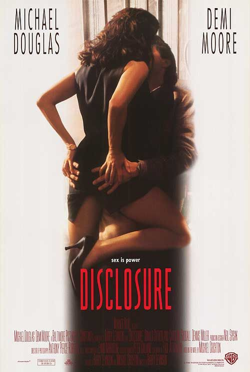 Disclosure (1994) - Michael Douglas - Demi Moore - Directed by Barry Levinson - Movie Poster - Warner Bros.