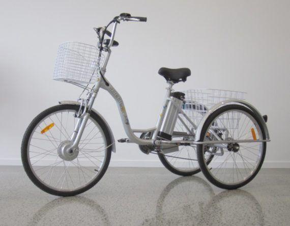 24″ Electric Trike Boxed – Satin Black – Trike Bike Australia
