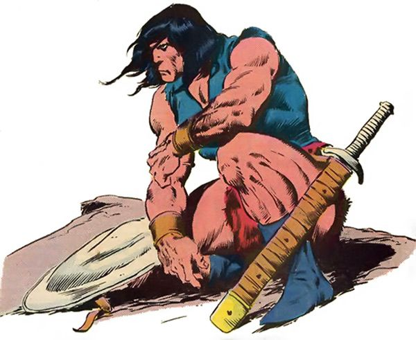 black heart sunglasses Conan the Barbarian by John Buscema