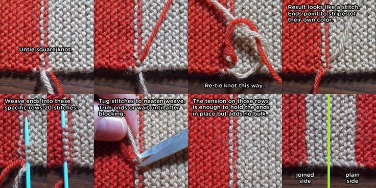 Invisible Color Changes for Knitting Garter Stitch   This has been working great for me!