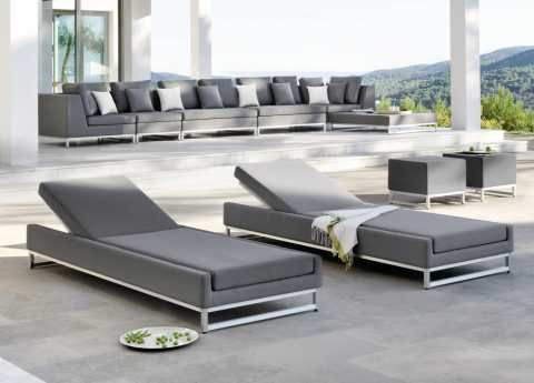 the luxurious manutti zendo sun lounger from belgian brand manutti is part of their incredibly popular zendo garden furniture collection has a matching - Garden Furniture Loungers