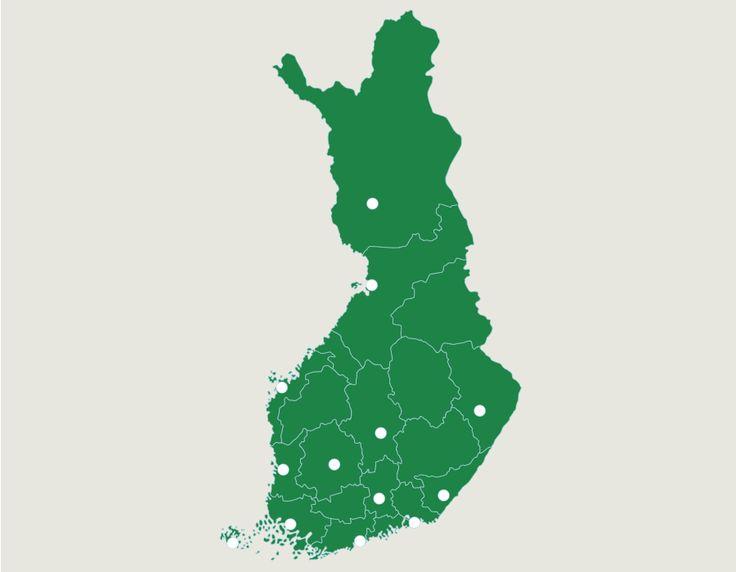 Finland: städer - geografispel