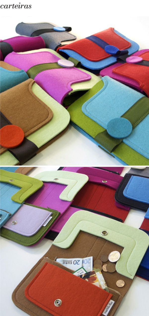 felt purses...by mariela Dias, this would be a fun project to do with the kids.