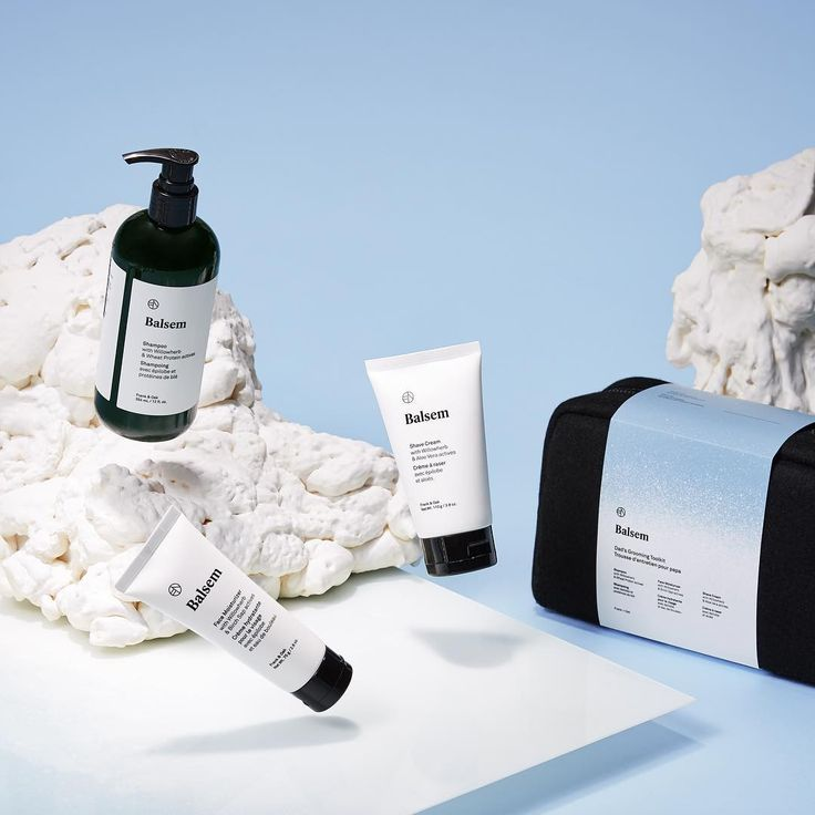 Grab a bundle of Balsem with our Grooming Essentials Kit that includes a full-sized Balsem shampoo, Balsem moisturizer, and Balsem shave cream. A perfect gift, even if it's from yourself. | #frankandoak #balsem