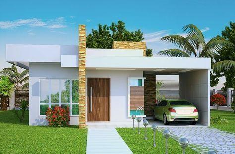Fachada de Casas Minimalistas de una Planta que te ayudaran ah diseñar la mejor casa. Fotos de fachadas de casas minimalistas en una planta modernas. Entra! #casasmodernasdeunaplanta